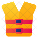 Button Life Jacket Safety Icon