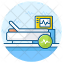 Life Support Electrocardiogram Hospital Bed Icon