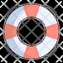 Lifebuoy Safety Rescue Icon