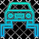 Garage Auto Service Car Lifting Icon