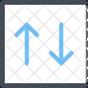 Arrows Descending Down Icon