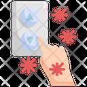 Lift Button Virus Transmission Icon