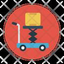 Lifter Carton Shipping Icon