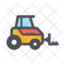 Lifting Forklift Driver Icon