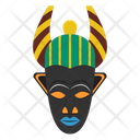 Ligbi Mask African Culture Tribal Mask Icon