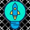 Light Bulb Launch Idea Icon