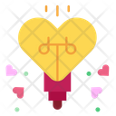 Light Bulb Heart Icon