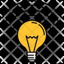 Illuminated Light Bulb Icon
