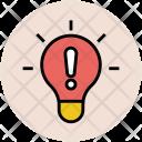 Light Bulb Warning Icon