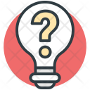 Light Bulb Question Icon