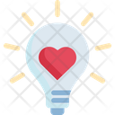 Light Bulb Heart Idea Icon