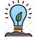 Lightbulb Energy Green Icon