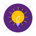 Light Idea Education Icon
