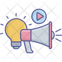 Light Bulb Marketing Content Icon