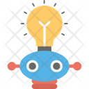 Light Bulb Robot Icon