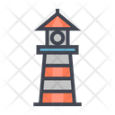 Light House Tower Building Icon
