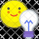 Lightbulb Idea Intelligence Icon