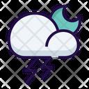 Night Storm Thunderstorm Icon