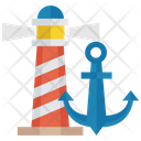 Lighthouse Marine Direction Ship Navigation Icon