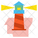 Head Lighthouse Creative Icon