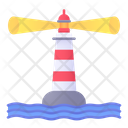 Lighthouse Sea Beach Icon