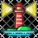 Lighthouse Beacon Coastline Icon
