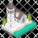 Sea Navigation Lighthouse Seatower Icon