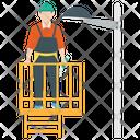 Handyman Electrician Electric Person Icon