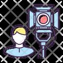 Lighting Technician Operator Icon