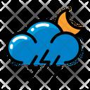 Weather Lightning Moon Icon
