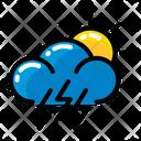 Weather Lightning Sun Icon
