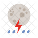 Lightning Moon Weather Icon