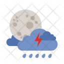 Lightning Moon Cloud Icon