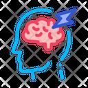 Brain Lightning Volt Icon