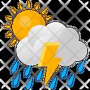 Lightning Rain Sun Icon