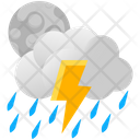 Lightning Moon Night Icon