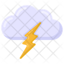 Lightning Cloud Icon