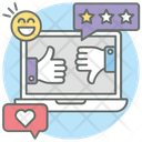 Like And Dislike Social Media Thumbs Up Icon