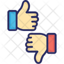 Like Dislike Hand Gestures Icon