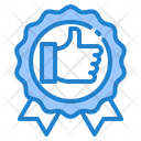 Like Badge Winner Approval Icon