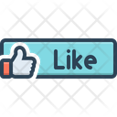 Like Button Conforming Good Job Icon
