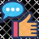 Like Message Social Media Like Communication Icon