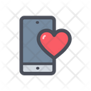 Like Mobile Mobile Heart Heart On Screen Icon