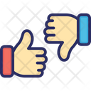 Hand Gesturing Like Or Dislike Pointing Thumb Icon