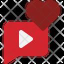 Like Video Media Love Love Icon