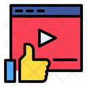 Like Video Feedback Rating Icon