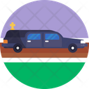 Funeral Service Limo Limousine Icon