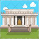 Lincoln Memorial Washington Dc Landmark Icon