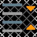 Line Spacing Decrease Icon