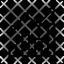 Line Bar Graph Icon